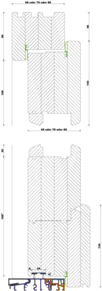 fenster fachhandel holz haust ren iv68 iv78 iv88. Black Bedroom Furniture Sets. Home Design Ideas